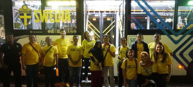 Bus Transjakarta Jadi Bus Pendukung Swedia